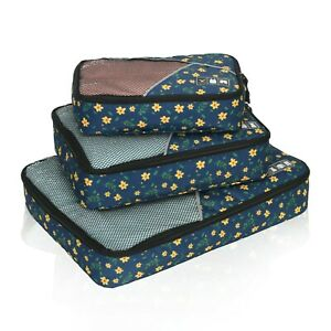 Classic Packing Cubes for Travel - 3pc Set Travel Luggage Packing Organizer Case