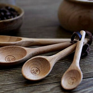 Kitchen Measuring Cup Coffee Measuring Spoon Wooden Wood Coffee Scoops LP