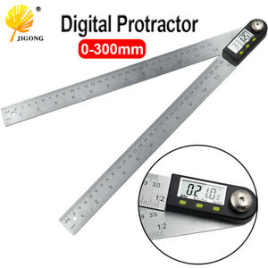 300mm 12quot; Digital Angle Ruler Finder Steel Stainless Gauge Electronic Goniometer $33.93
