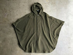 RARE Vintage Polo Ralph Lauren Wool Cloak Cape sz Medium Green Made In England