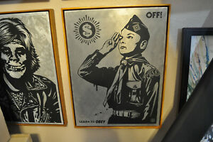 Shepard Fairey - Learn to Obey - Fine Art on Metal - Super Rare Edition of 3