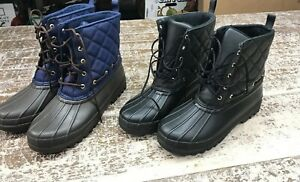 Women#x27;s Sperry Gosling Quilted Ladies Winter Duck Boot Black or Navy