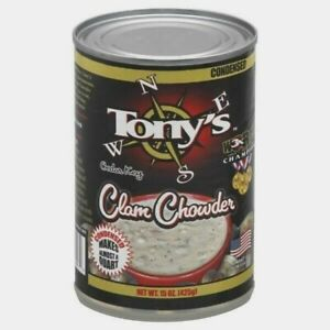 TONY#x27;S CLAM CHOWDER CEDAR KEY CONDENSED 15 OZ $10.99