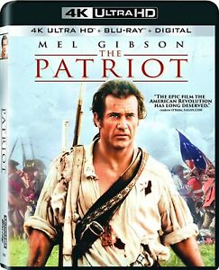 The Patriot No Slipcover 4K Ultra HD Blu ray Digital NEW Sealed Free Ship $13.99