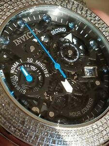 Invicta Reserve Subaqua Noma I Ltd Ed 1.88ctw Diamond and Blue Sapphire Watch