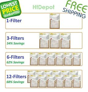 Filtrete-Basic Air-Filter Pleated Furnace Replacement Pad Dust Pack Lot 3M 6 12