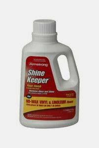Armstrong SHINE KEEPER 64oz Gloss Floor Polish Protect Scuffs Scratches 00390806