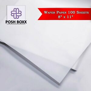 Edible Wafer Rice Paper Pack for printing Cake Toppers 100 sheets 8quot; x 11quot;