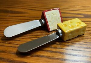 Hallmark Branded Porcelain Handles & Stainless Cheese Spreaders ~ Set of 2 NEW