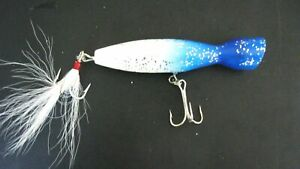 Atom Fishing Lure 214AT BS Atomizer Popper 2 14 oz Blue And Silver