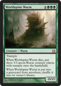 1x Worldspine Wurm Foil x1 Return to Ravnica Near Mint, English BFG MTG