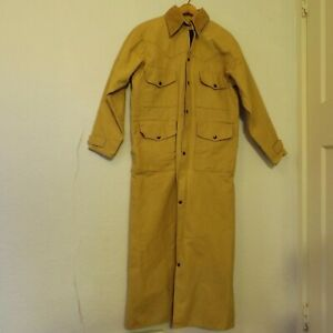 VTG Cabelas Hunting Duck Canvas Jacket Coat Made In USA Long Duster