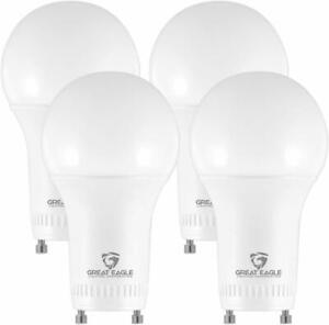 Great Eagle 60W Replacement Dimmable A19 GU24 LED Bulb 2700K/3000K/4000K/5000K
