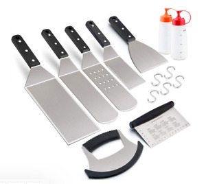 Griddle Tools for BBQ Flat Top, Grill Accessories Set of 9 For Blackstone Grill