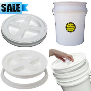 ENCORE PLASTICS 5-GALLON ALL PURPOSE BUCKET + LID COMMERCIAL FOOD GRADE DURABLE