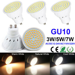 GU10 LED Light Bulb Spotlight 3W 5W 7W Lamp Ultra Bright Lighting AC110V 220V US