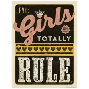 FYI Girls Totally Rule Decal Kids Room Decal