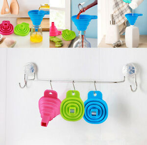 Silicone Funnel Foldable Hopper Kitchen Collapsible Tool Practical Gel MiniStyle