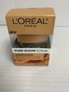 LOreal Paris Skincare Pure Sugar Scrub with Grapeseed to Smooth and Glow New
