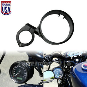 Side Speedometer Relocation Mount Bracket Fit For Harley Sporster 93 up Dyna 05