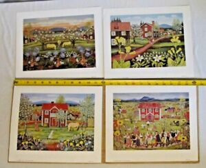 4 1982 Aspelin Art Galleries Lithographs by Stina Sunessson Horses Farm Country $14.95