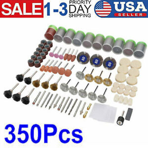 350PC Dremel Rotary Tool Accessories Kit Sanding Cutting Polishing Grinder Set