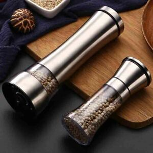Salt And Pepper Grinders Shakers Manual Mill Spices Crusher Stainless Steel Tool