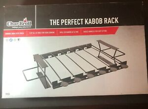 """Char-Broil """"The Perfect Kabob Rack"""" Black 6 Skewer Brand New BBQ Accessory"""