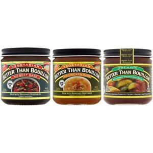 Better Than Bouillon Small Vegan Sampler 8 oz No Beef No Chicken Vegetable $15.49