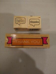 quot;Hello And Thank Youquot; Stamps
