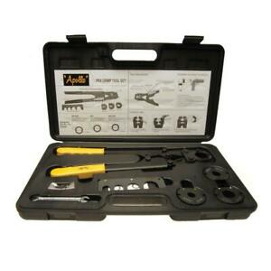Apollo Multi-Head PEX Crimp Tool Kit Pipe Rings Tubing Crimper Plumbing Crimping  $85.95