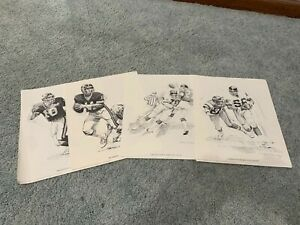 1981 New York Giants Shell Oil Football Poster Lot 4 Lawrence Taylor Phil Simms $18.00