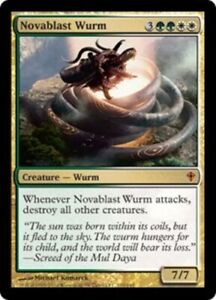 1x Novablast Wurm Foil x1 Worldwake Near Mint, English BFG MTG Magic