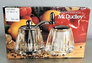 Vintage Clear Salt And Pepper Mill Impressions by Mr. Dudley
