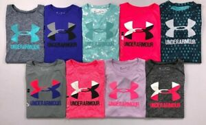 Girl's Youth Under Armour Heat Gear Loose Polyester Shirt $14.99