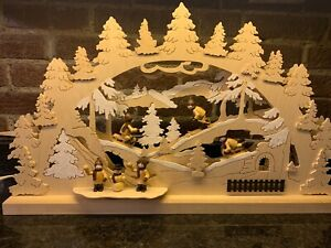 Christmas Wood Hand Crafted Michael Muller Wooden Holzkunstgewerbe German LARGE