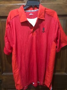 Tatnuck 1898 Under Armour polo red Short Sleeve Large Golf Country Club $12.99