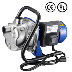 1200W Electric Water Booster Pump Stainless Steel Garden Sprinkler Pump Pool