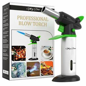 Spicy Dew Blow Torch - Creme Brulee Torch - Refillable Professional Culinary