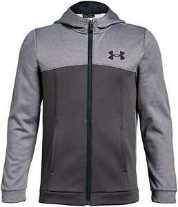 Under Armor Boys Armour Fleece Full Zip Hoodie, Youth X Large, Charcoal Heather $29.99