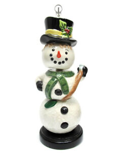 Snowman Measuring Cups Christmas/Winter/Holiday Baking Ceramic Set of 4 Hanging