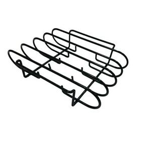 Grill Rib Rack Smoker Oven 4-Slab Nonstick Dishwasher Safe BBQ Grilling Cooking