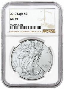 2019 1 oz Silver American Eagle $1 NGC MS69 Brown Label SKU55752 $35.86