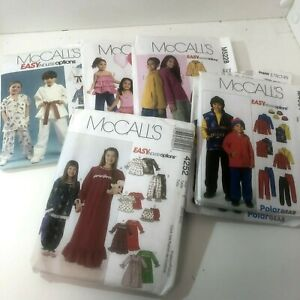 New Uncut McCalls Kids Sewing Patterns Easy Endless Options Boys Girls $6.95