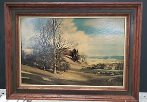 Vintage Framed Painting By ROWLAND HILDER 20X 27quot; $49.99