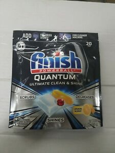 e Finish Powerball Quantum Dishwasher Tabs with pods Lemon 20 ct free shipping