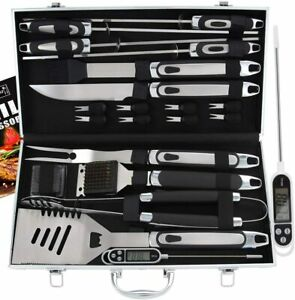 ROMANTICIST 21pc BBQ Grill Accessories Set with Thermometer The Very Best