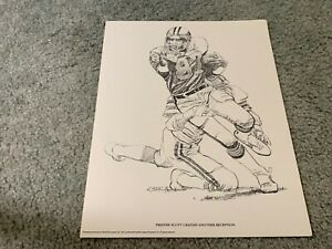 1981 Detroit Lions Freddie Scott Shell Oil Football Print Amherst College $22.00