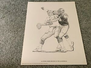 1981 Detroit Lions Bubba Baker Shell Oil Football Print Colorado State Rams $22.00
