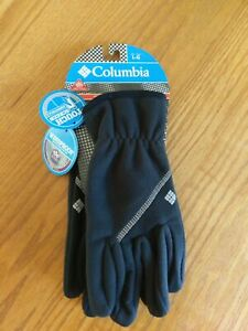 Columbia Womens Wind Bloc Gloves Omni Heat Windproof Touchscreen Black Large $19.99
